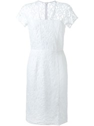 Carven Fitted Lace Dress White