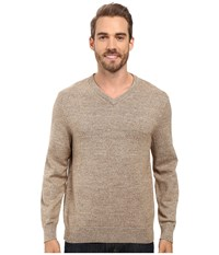 Nautica Snowy V Neck Sweater Woodrift Flax Men's Sweater Beige
