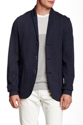 Howe Solid Blend Three Button Harlem Blazer Blue