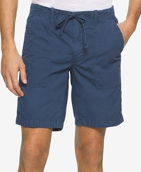 Calvin Klein Jeans Men's Faded Poplin Shorts Insignia Blue