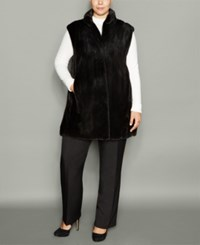 The Fur Vault Plus Size Mink Vest Ranch