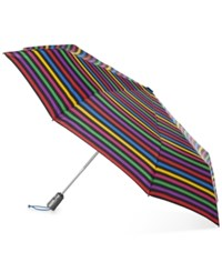 Totes Titan Auto Open Close Medium Umbrella Stripe Hue