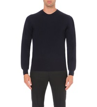 J. Lindeberg Crew Neck Wool Jumper Navy