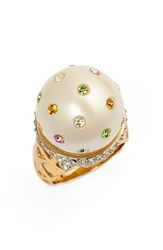 Women's Kate Spade New York 'Carnival Nights Ice Cream' Faux Pearl Ring