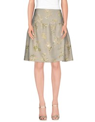 Maurizio Pecoraro Skirts Mini Skirts Women Light Grey
