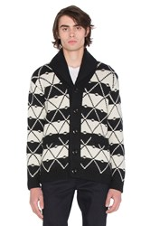 G Star Core Jacquard Shawl Cardigan Black And White