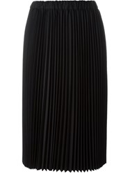 Comme Des Gara Ons Pleated Mid Length Skirt Black