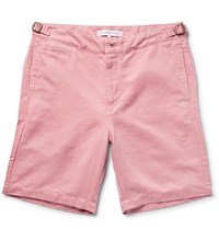 Orlebar Brown Jonathan Cotton And Linen Blend Twill Shorts Pink