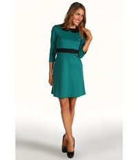 Gabriella Rocha Nanette Dress Teal Black Women's Dress Blue