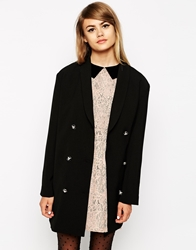 Little White Lies Oversized Boyfriend Blazer Black