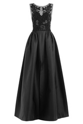 Zuhair Murad Evening Gown With Beaded Bodice Black