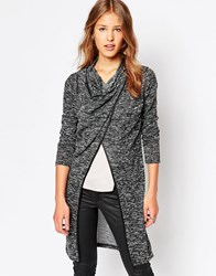 Wal G Cardigan With Wrap Front Black
