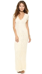 Nightcap Clothing Victorian Lace Cap Sleeve Dress Ivory