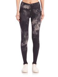 Alo Yoga Airbrush Print Leggings Black Smoke Print