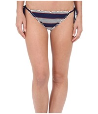 Sperry Sailing Stripe String Tie Side Midnight Women's Swimwear Navy