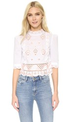 Temperley London Hika Blouse White Mix