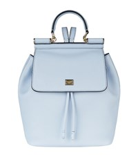 Dolce And Gabbana Sicily Backpack Female Blue