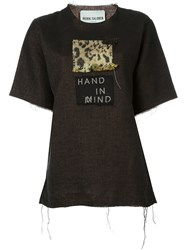 Heikki Salonen T Shirt With Patches Brown