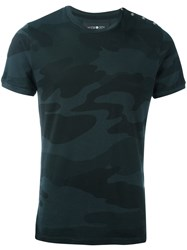 Hydrogen Camouflage Fitted T Shirt Black