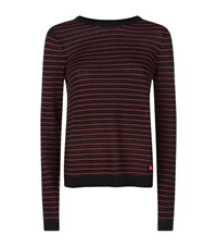 Armani Jeans Striped And Printed Sweater Female Black
