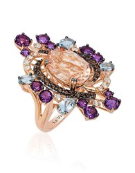 Le Vian Crazy Semi Precious Multi Stone And 14K Strawberry Gold Cocktail Ring Multi Colored