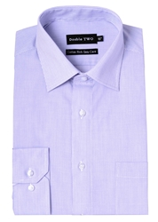 Double Two Stripe Classic Fit Classic Collar Formal Shirt Lilac