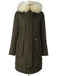 Woolrich 'W's Military' Parka Coat Green