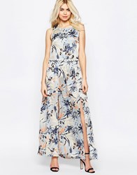 Girls On Film Floral Maxi Dress With Crochet Trim Cream