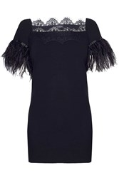 James Lakeland Lace And Feather Top Black