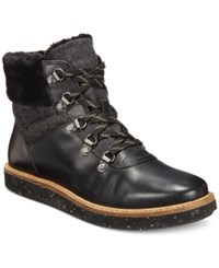 Clarks Women's Glick Clarmont Lace Up Booties Women's Shoes Black Leather