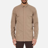 Helmut Lang Men's Canvas Long Sleeve Shirt Shale Green