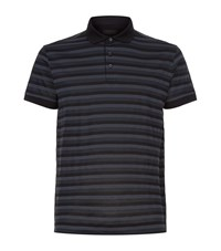 Z Zegna Horizontal Stripe Polo Shirt Male Black