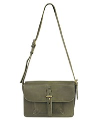 Lucky Brand Medine Leather Shoulder Bag Olive