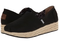 Bobs From Skechers Wedge Espadrille Memory Foam Black Women's Wedge Shoes