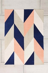 Chevron Flip 5X7 Rug In Peach Urban Outfitters