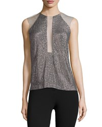 Kaufman Franco Sleeveless Embellished Top Carbon Black