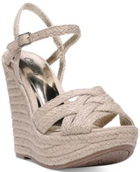 Carlos By Carlos Santana Brayden Two Piece Platform Wedge Sandals Women's Shoes Natural