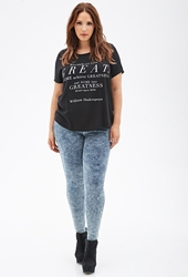Forever 21 Stretch Fit Mineral Wash Skinny Jeans