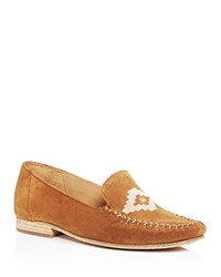 Soludos Embroidered Loafers Saddle