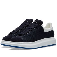 Alexander Mcqueen Oversized Sole Mesh Low Top Sneaker Blue