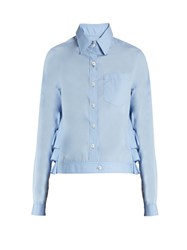 Kolor Ruffled Back Cropped Shirt Light Blue