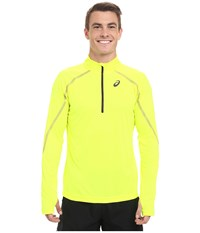 Asics Lite Show Long Sleeve 1 2 Zip Safety Yellow Men's Long Sleeve Pullover