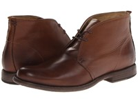Frye Phillip Chukka Cognac Soft Vintage Leather Men's Lace Up Boots Brown