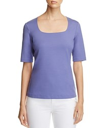 Lafayette 148 New York Square Neck Tee Bluebird