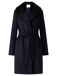 Hugo Boss Canika Wool Coat Open Blue