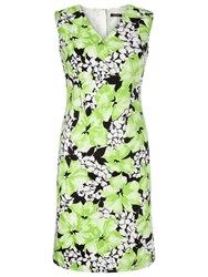 Precis Petite Floral Print Sateen Dress Green Multi