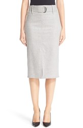 Max Mara Women's 'Natura' Stretch Wool And Cashmere Flannel Skirt