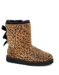 Ugg Bailey Bow Leopard Print Sheepskin Boots Cheetah