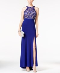 Nightway Halter Neck Formal Dress Royal Blue
