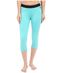 Hurley Dri Fit Crop Leggings Heather Hyper Jade Women's Workout Blue
